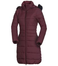 Dámský kabát s kožešinou dlouhý styl EXTRA SIZE NIJA NORTHFINDER
