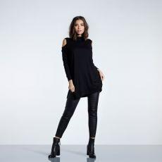 Dámsky sveter Blackseal Cold Shoulder Knitted Dress FIRETRAP