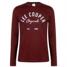 Pánske tričko dlhý rukáv Long Sleeve Vintage Lee Cooper