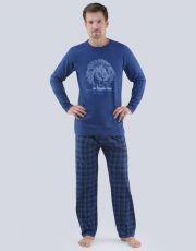 Pánské pyžamo dlouhé 79063-DxMDBM GINA