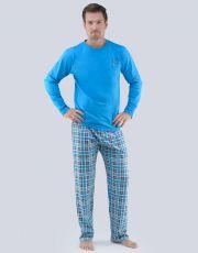 Pánské pyžamo dlouhé 79065-DxADCM GINA