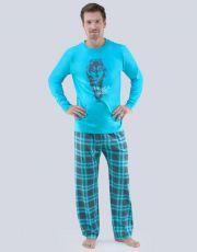 Pánské pyžamo dlouhé 79055-DxADxG GINA