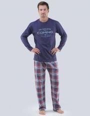 Pánske pyžamo dlhé 79067-DCMLxG GINA