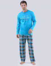 Pánské pyžamo dlouhé 79067-DxAMxB GINA