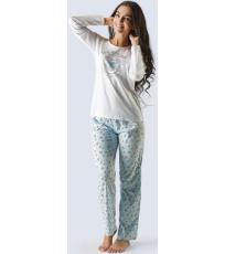 Dámské pyžamo dlouhé 19014-MxBLZM GINA