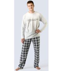 Pánské pyžamo dlouhé 79023-LGBDCM GINA