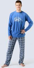 Pánské pyžamo dlouhé 79025-DBMDCM GINA