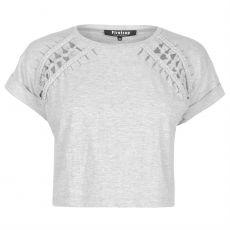 Dámské triko Blackseal Macrame T Shirt FIRETRAP