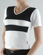 Tričko s krátkym rukávom kombinácie farieb a paspula 98003-MxBMxC GINA