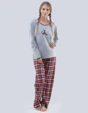 Dámské pyžamo dlouhé 19079-MxGDxE GINA
