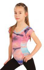 Gymnastický dres dětský s krát. rukávy. 55438999 LITEX