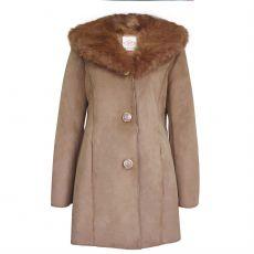 Dámský kabát Faux Suede Parka Lee Cooper