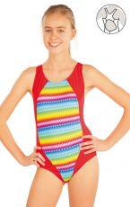 Dievčenské jednodielne športové plavky. 52612 LITEX