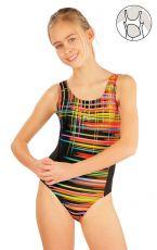 Dívčí jednodílné sportovní plavky. 52625 LITEX