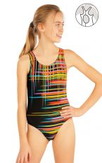 Dívčí jednodílné sportovní plavky. 52626 LITEX