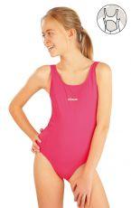 Dievčenské jednodielne športové plavky. 52628 LITEX