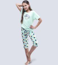 Dievčenské pyžamo 3/4 dĺžky 19056-LYMMxB GINA