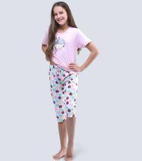 Dievčenské pyžamo 3/4 dĺžky 19056-LxRMxB GINA