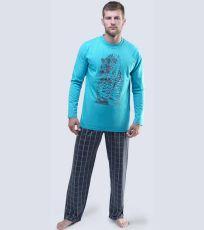 Pánske pyžamo dlhé 79039-MYMDxG GINA