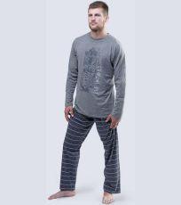 Pánské pyžamo dlouhé 79039-MxGDxG GINA