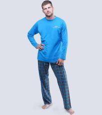 Pánské pyžamo dlouhé 79041-DxADxG GINA