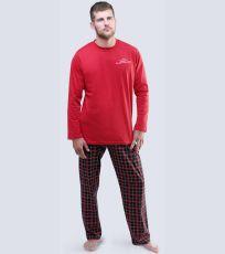 Pánské pyžamo dlouhé 79041-MxEMxC GINA