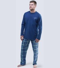 Pánské pyžamo dlouhé 79043-DCMDMZ GINA