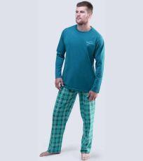 Pánské pyžamo dlouhé 79043-DZMMYM GINA