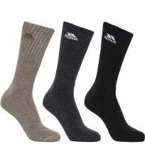 Pánske vysoké ponožky - 3 páry TORREN Trespass