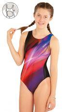 Dievčenské jednodielne športové plavky 63646 LITEX