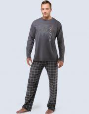 Pyžamo dlouhé pánské 79033-DxGMxG GINA
