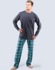 Pyžamo dlouhé pánské 79035-DxGMYM GINA