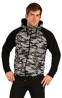 Mikina pánska na zips s kapucňou 5B260 LITEX