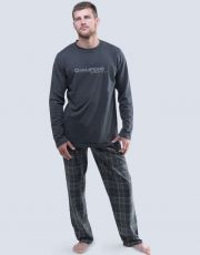 Pánské pyžamo dlouhé 79047-DxGLGY GINA