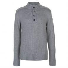 Pánský svetr Half Button Knit Lee Cooper